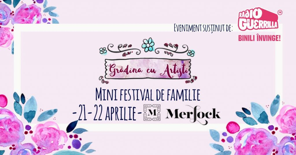 gradina cu artisti festival la Merlock