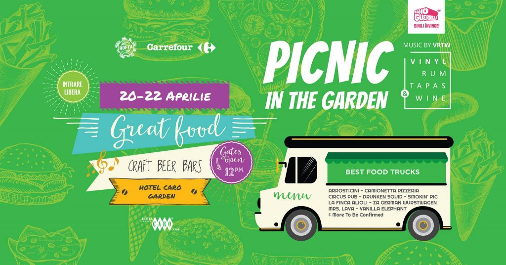 Picnic in the garden, street food si craft beer