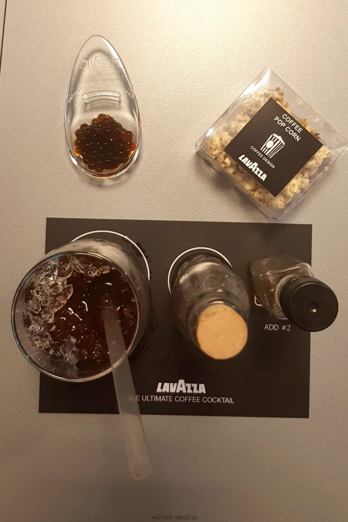 Lavazza coffee caviar, coffee popcorn, coffeetail