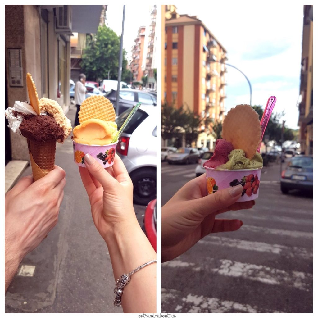 ice cream in rome