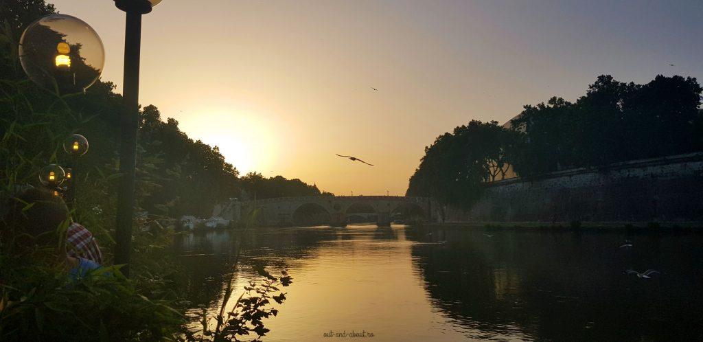 trestavere rome sunset