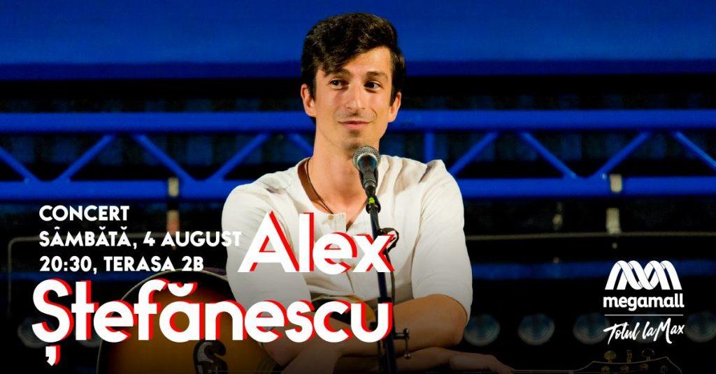 concert Alex Stefanescu pe Mega Mall