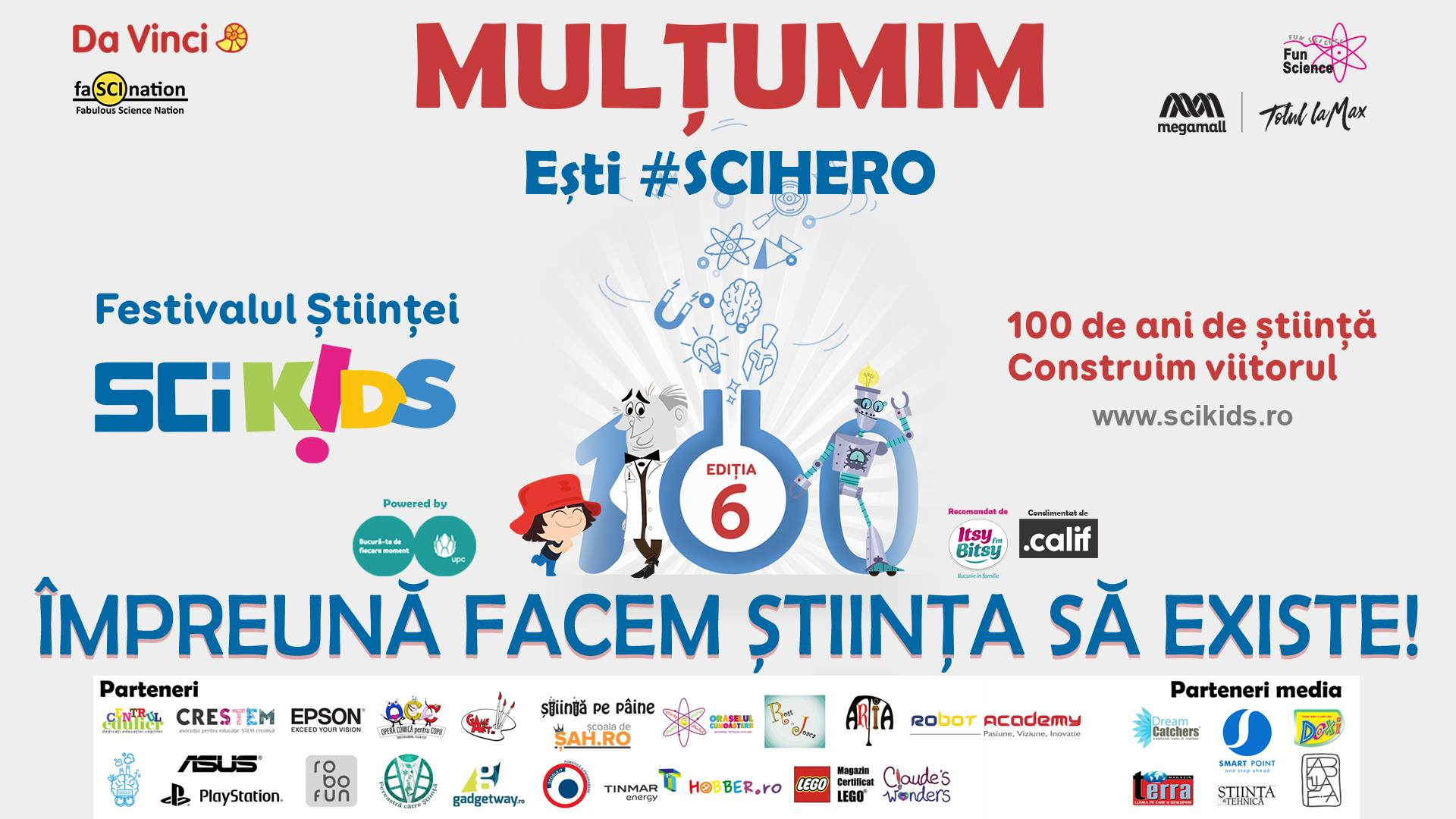 SciKids festivalul Stiintei editia VI