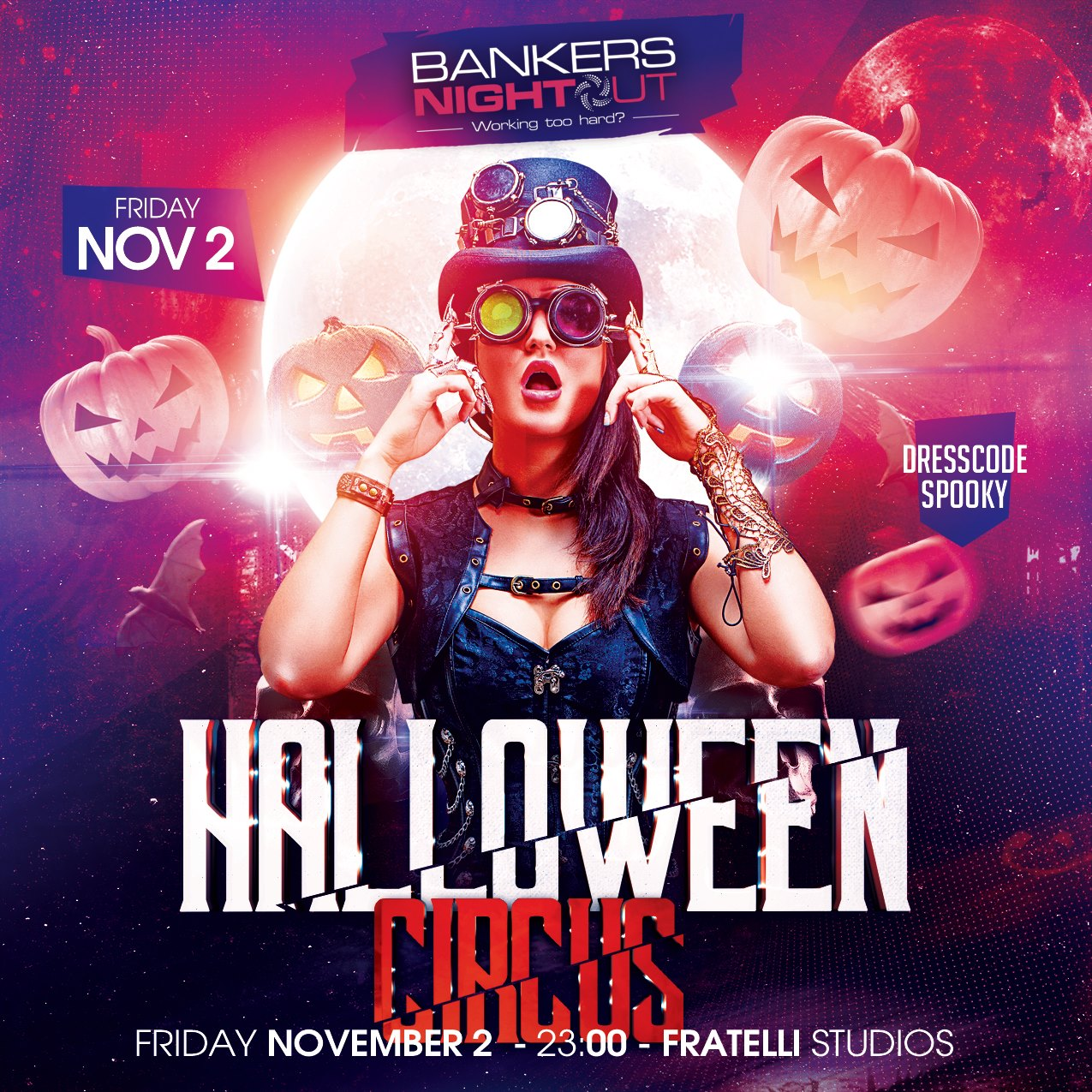 Bankers night out Halloween Circus