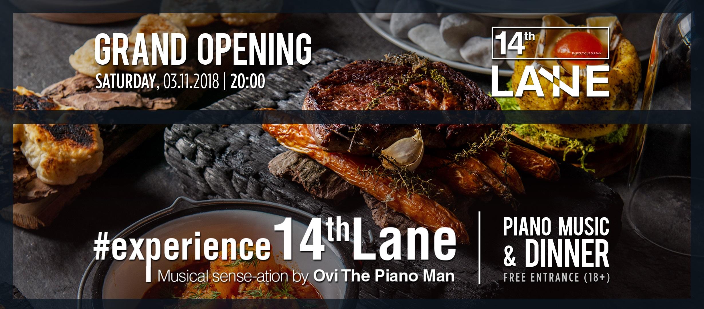 Piano Music & dinner la 14lane