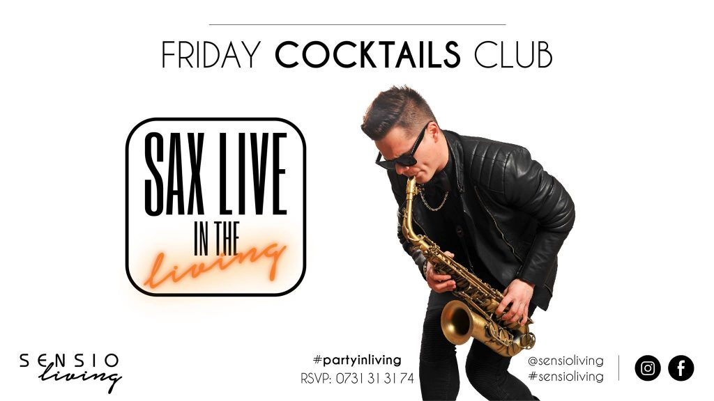 friday cocktails and live sax la sensio living