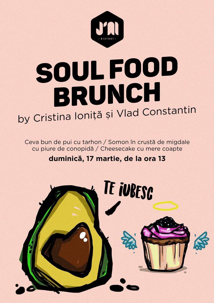 soul food brunch la j'ai bistrot weekend 15-17 martie