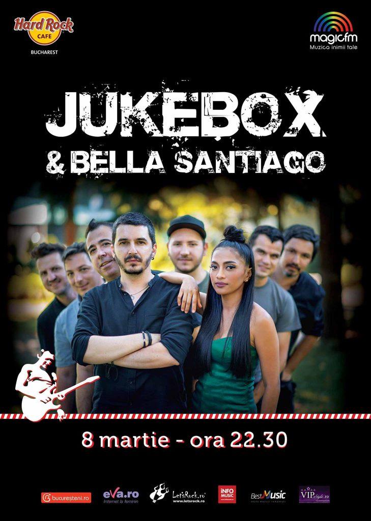 concert jukebox si bella santiago de 8 martie
