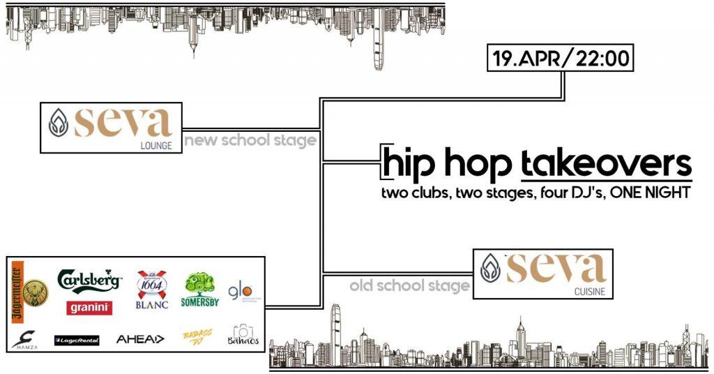 hip hop takeover la seva lounge  weekend 19-21 aprilie
