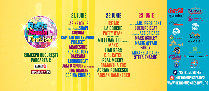 Retro Music Festival weekend 21-23 iunie
