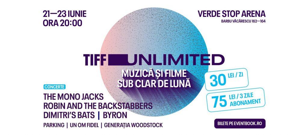 TIFF unlimited la Verde Stop weekend 21-23 iunie