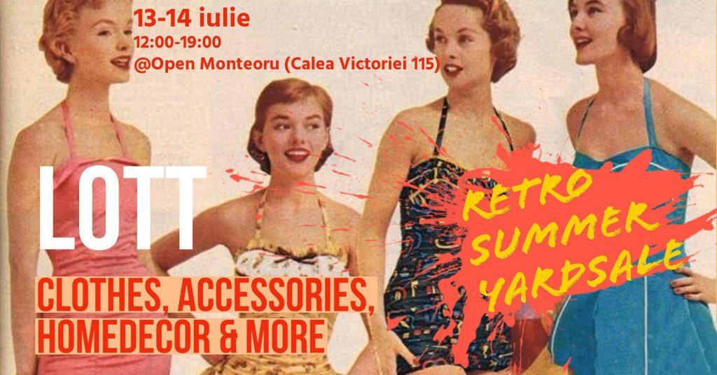 Retro Summer Yard Sale weekend 12-14 iulie