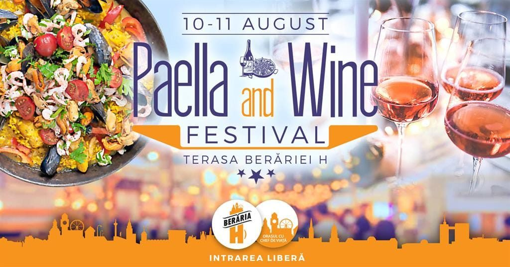 Paella and wine festival weekend 9-11 aug