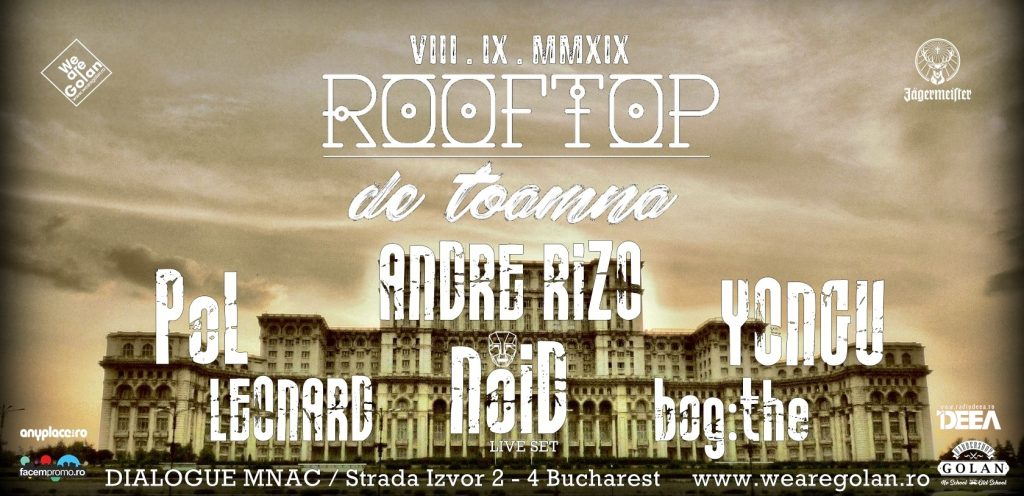 Rooftop de toamna pe MNAC weekend 6-8 sept
