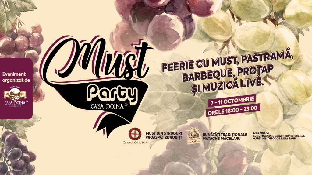 must party la restaurant casa doina weekend 11-13 octombrie