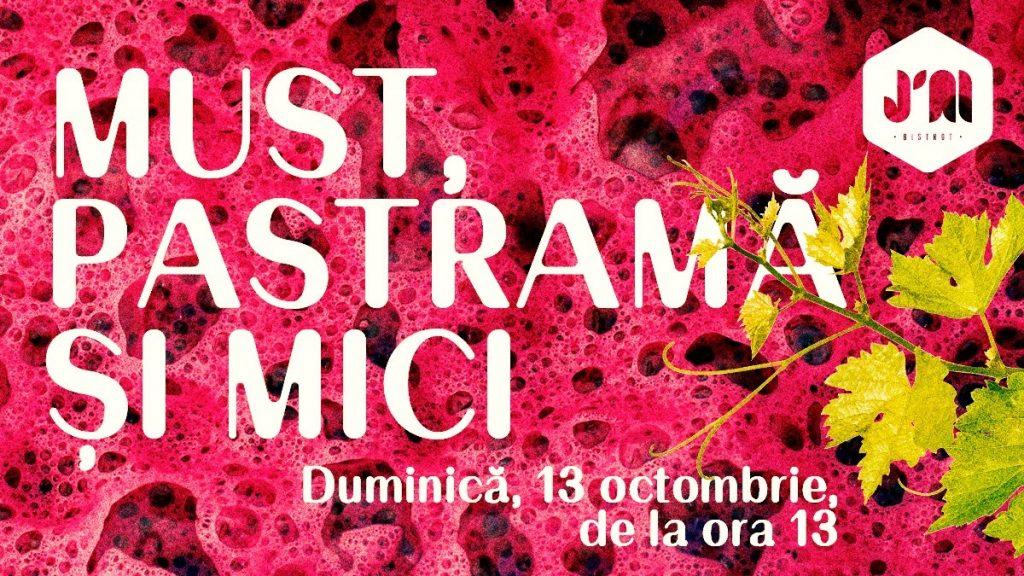 Must, Pastramă și Mici la J'ai Bistrot weekend 11-13 octombrie