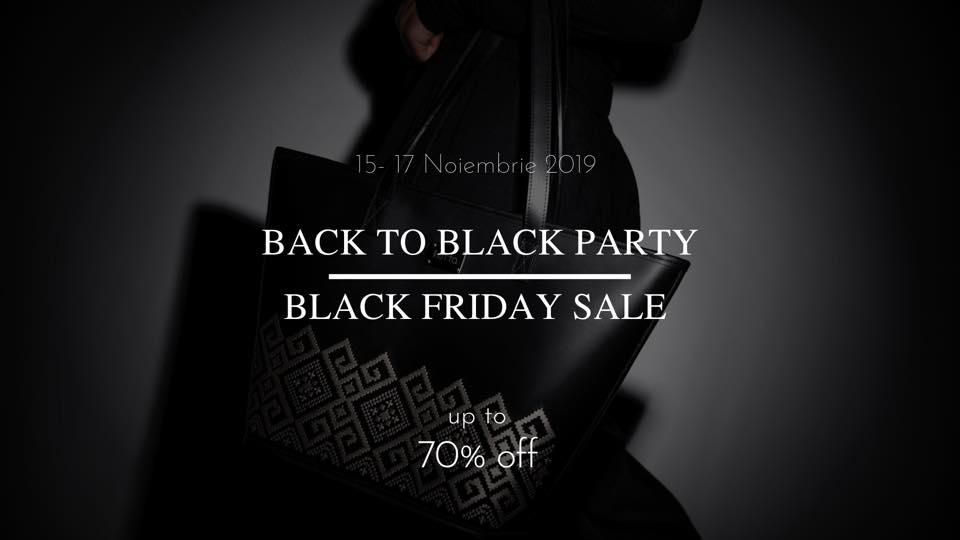 Back to black black friday sale la Iutta weekend 15-17 noiembrie