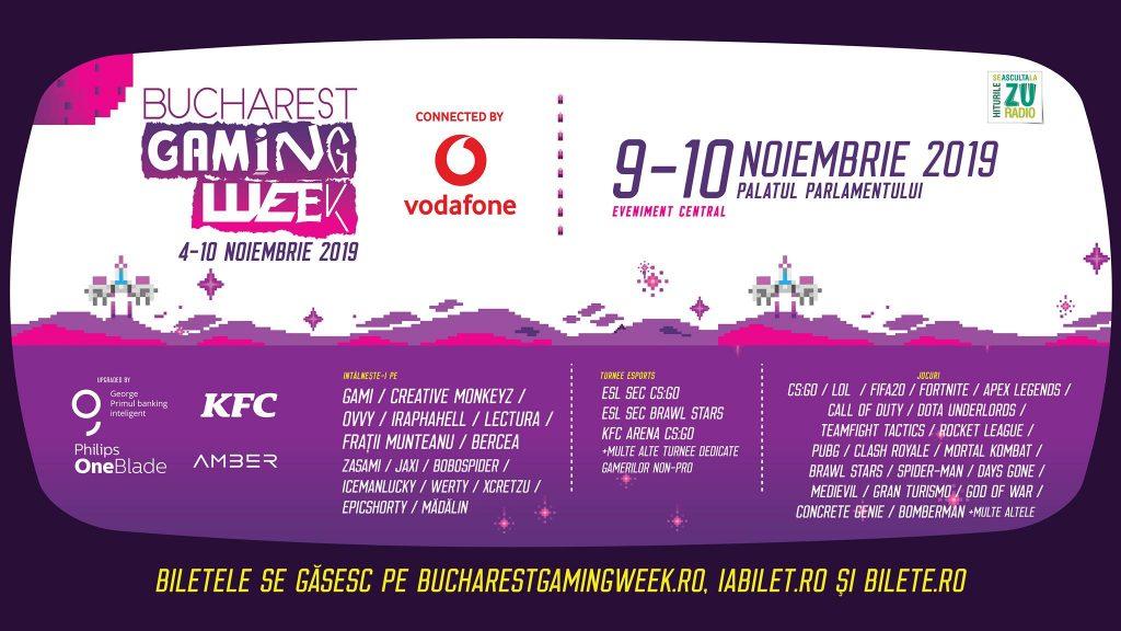 Bucharest Gaming Week weekend 8-10 noiembrie