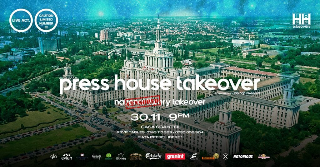Hip Hop takeovers la Casa Presei weekend 29 nov - 1 dec