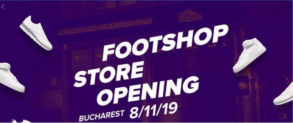 Marea deschidere Footshop weekend 8-10 noiembrie
