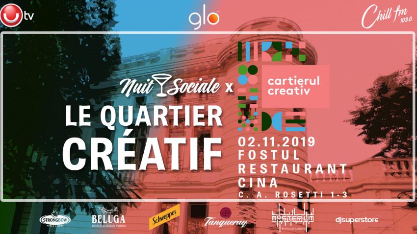 Nuit Sociale - Le Quartier Creatif weekend 1-3 noiembrie
