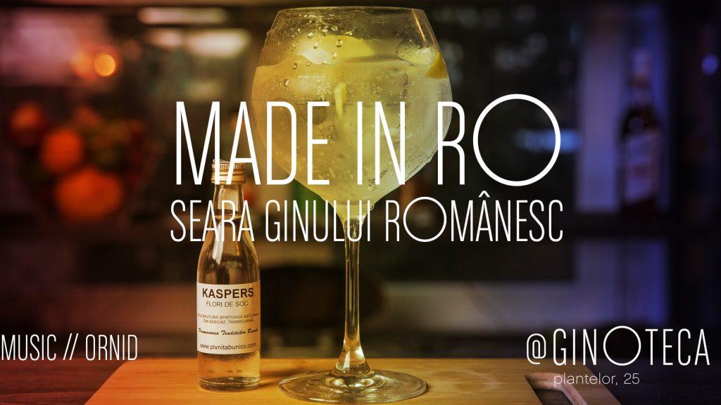 Seara ginului romanesc la GinOteca weekend 30 nov 1 dec