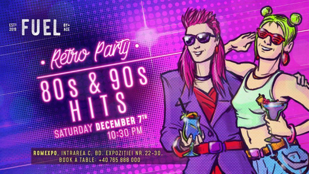 Retro Party la Ace fuel weekend 6-8 dec