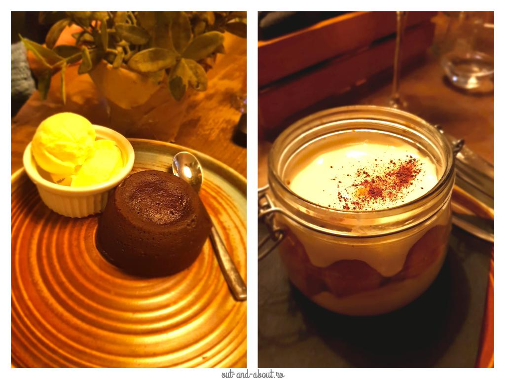 lava cake & tiramisu Trattorian Brasov