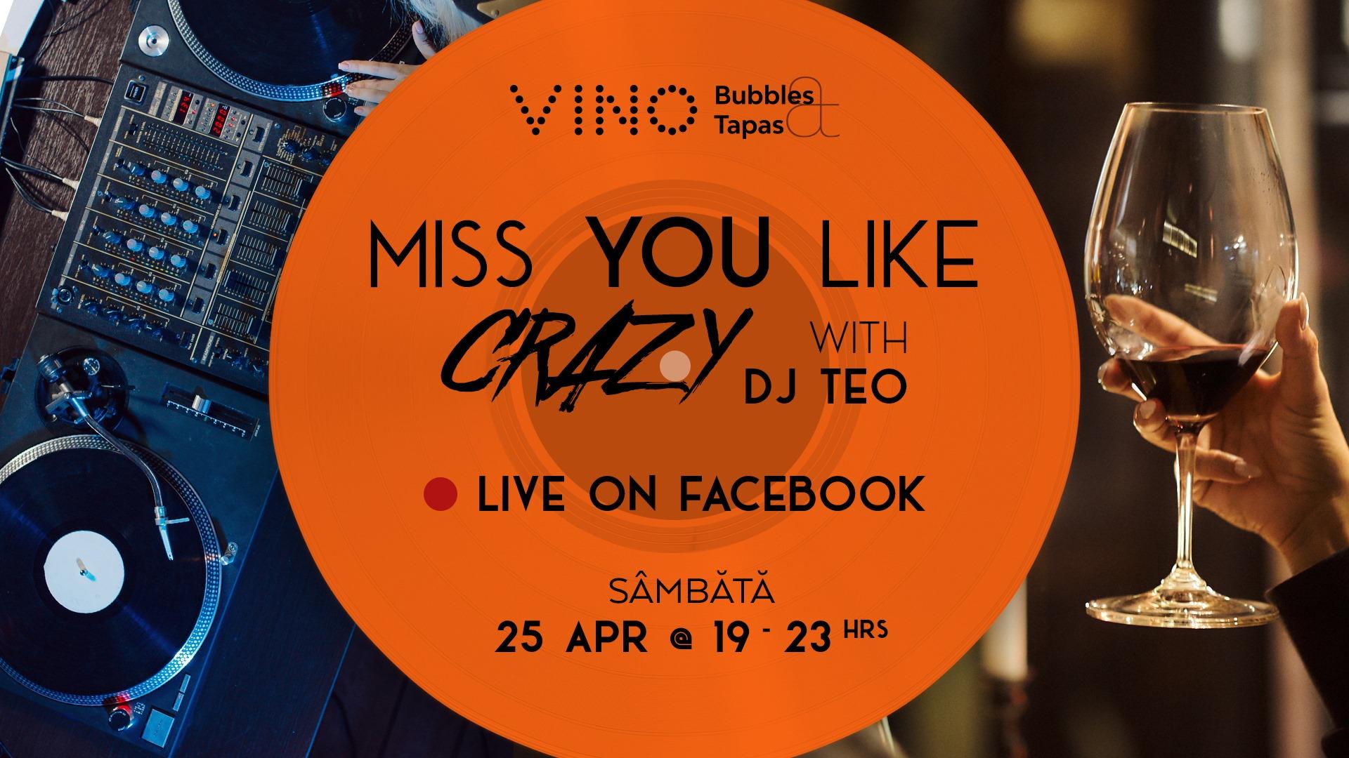 party live VINO cu dj Teo weekend 24-26 aprilie