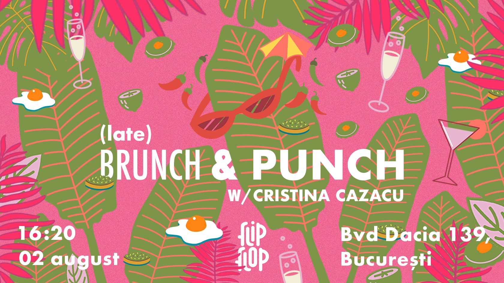 evenimente weekend 31 iulie-2 aug Brunch & punch la flipflop bistroteca