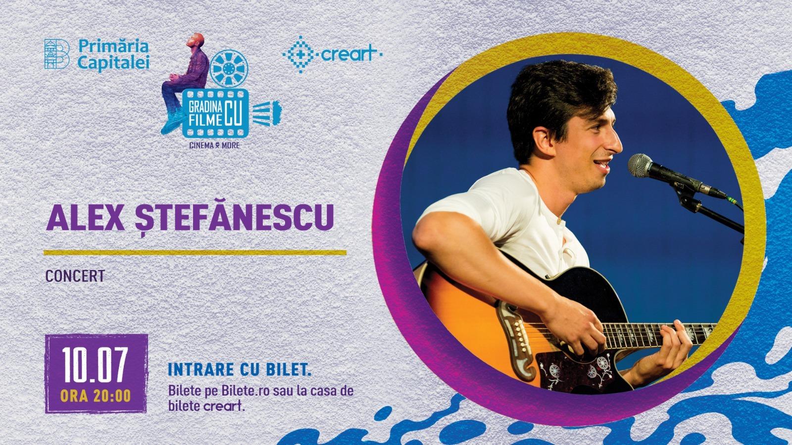 evenimente weekend 10-12 iulie Concert Alex Stefanescu la Gradina cu filme