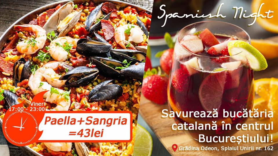 evenimente weekend 10-12 iulie Spanish night la gradina odeon
