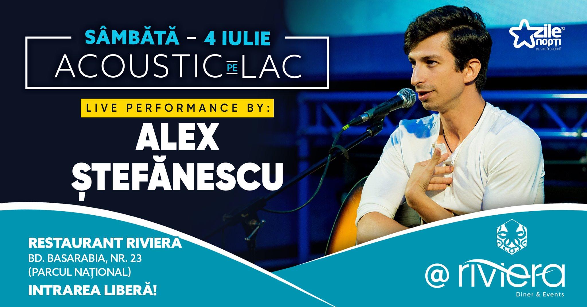 weekend 3-5 iulie concert alex stefanescu la Riviera Park