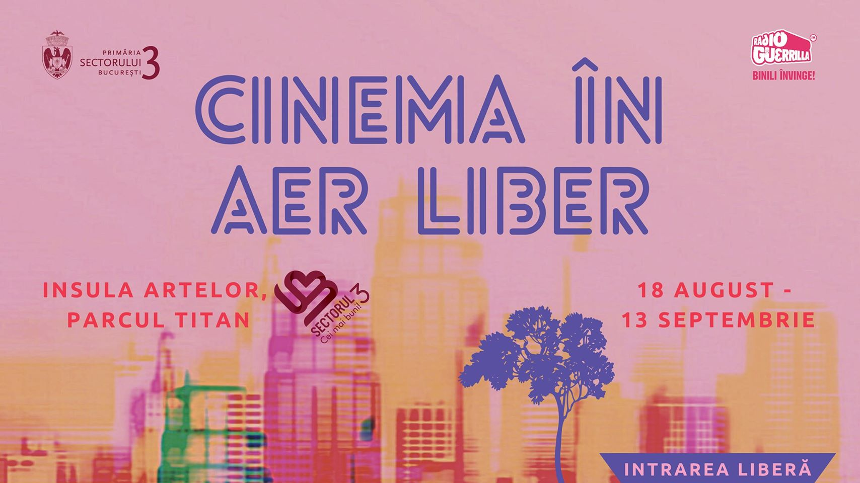 evenimente weekend 28-30 august cinema in aer liber Titan