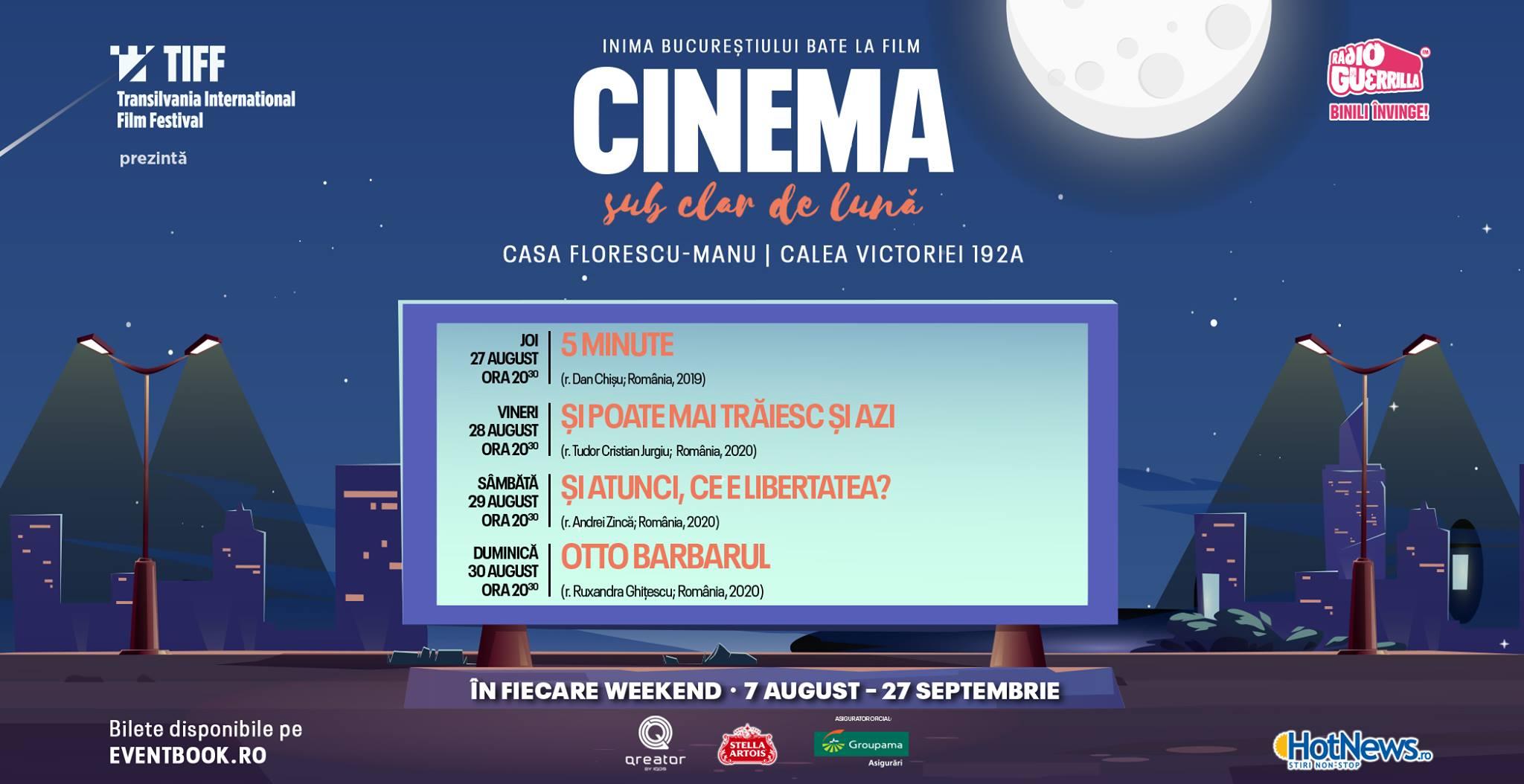 evenimente weekend 28-30 august cinema sub clar de luna