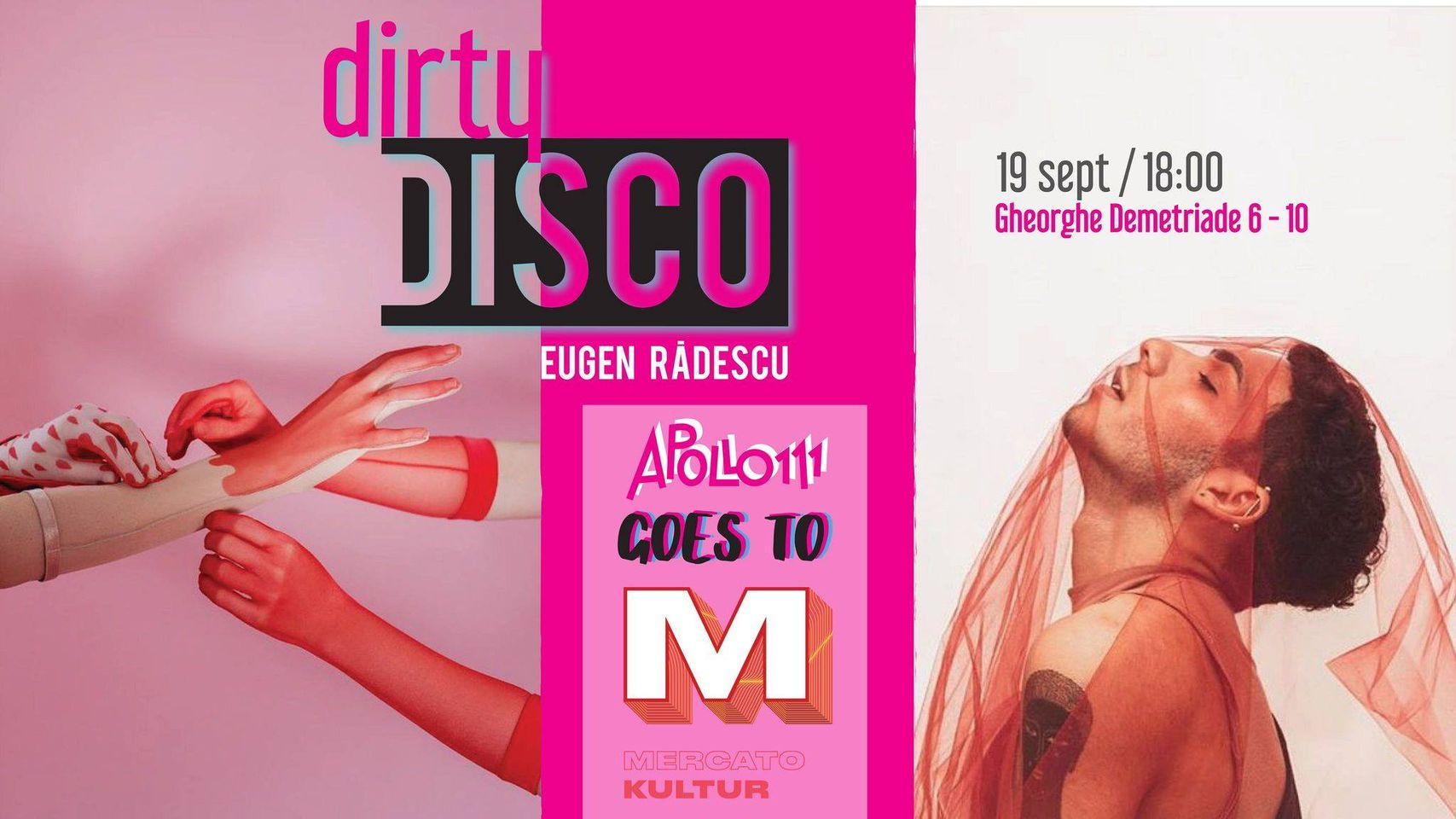 evenimente weekend 18-20 sept  dirty disco cu eugen radescu la mercato kultur