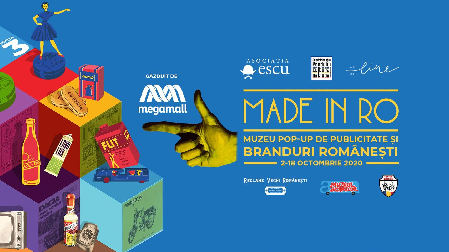evenimente weekend 2-4 oct made in ro muzeu pop-up de publicitate și branduri