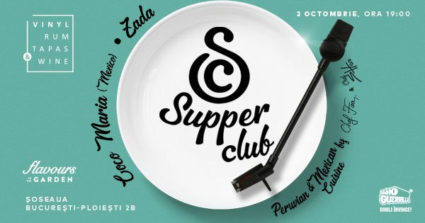 evenimente weekend 2-4 octombrie supper club vrtw