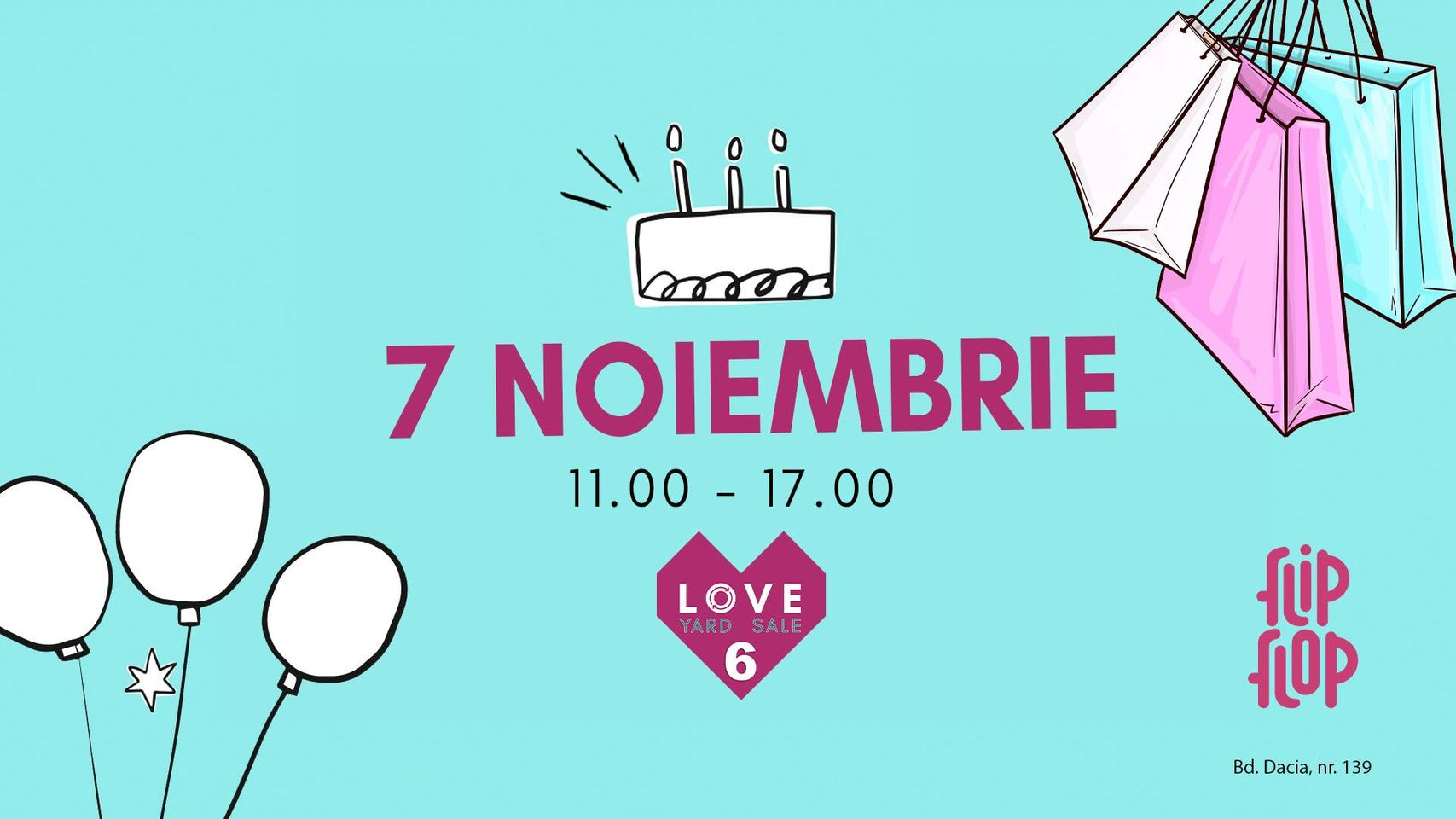 evenimente weekend 6-8 nov  love yard sale aniversar