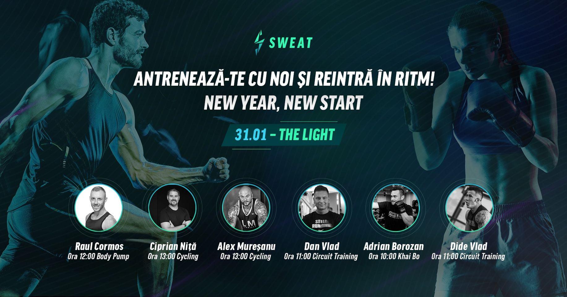 evenimente weekend 29-31 ianuarie Antreneaza-te cu sweat concept