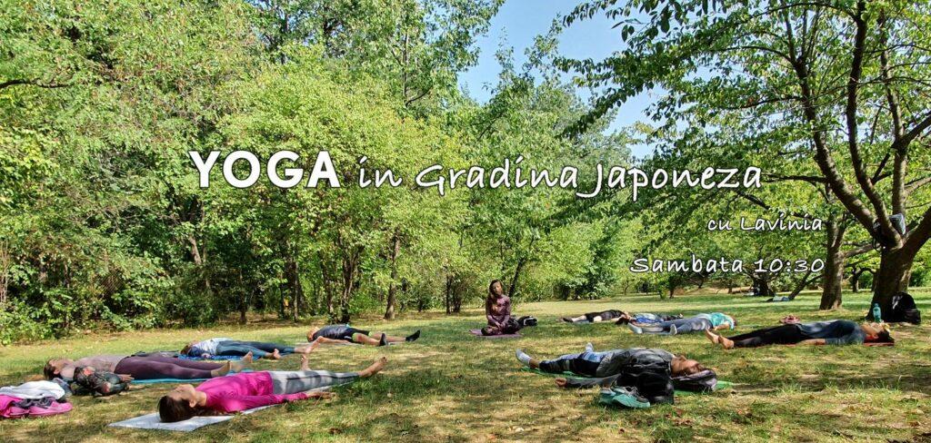 weekend evenimente 9-11 iulie yoga in gradina japoneza